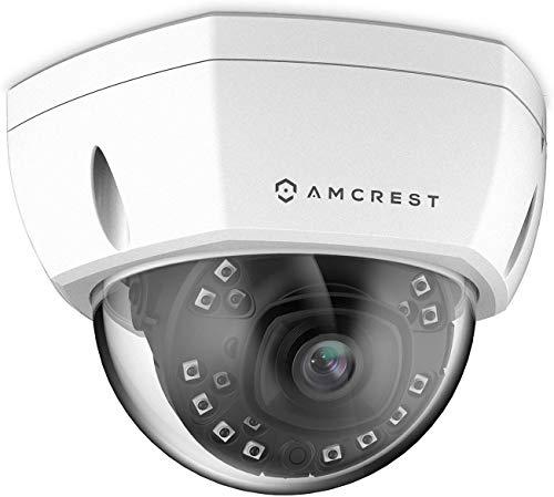 Amcrest 5MP Outdoor PoE-IP-Kamera, UltraHD 5MP-Überwachungskamera, 2,8-mm-Objektiv, IP67-Wetterschutz, Cloud- und MicroSD-Aufzeichnung (IP5M-1176EW), Weiß