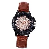 QTMIAO 美しいドレスウォッチ時計 女史ベルトが運命を時計クォーツ腕時計 (Color : 12)