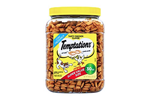 Temptations Classic Treats for Cats 30-ounce Tubs - Tasty Chicken Flavor (4 Pack)