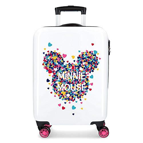 Disney Minnie Magic Maleta de Cabina Rosa 38x55x20 cms Rígida ABS Cierre combinación 33L 2,8Kgs 4 Ruedas Dobles Equipaje de Mano