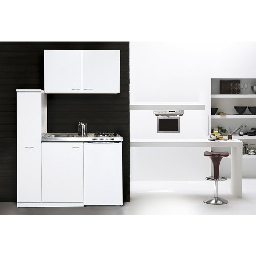 respekta MK130WOS Miniküche 130 x 60 cm weiß