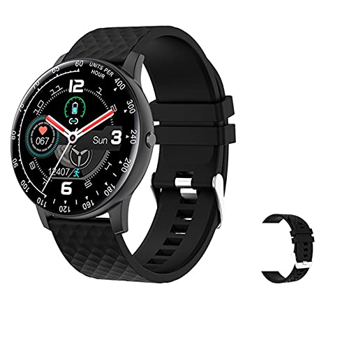 YDZ Smart Watch Hombres DIY DIAL TOUCHO Completo Touche Fitness Correo CORAZÓN RÁPIDO ARRANO Presión Arterial Reloj Inteligente Señoras Smartwatch H30 para Teléfonos iOS De Android,G