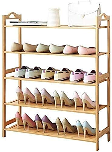 QZMX Estante de Zapatos Zapatero Bench 5 Nivel de Madera Natural, Organizador for los estantes del Cuarto de baño, Estante de Madera for Muebles Grandes Estante (Color : 5 Tier, Size : 70Cm)