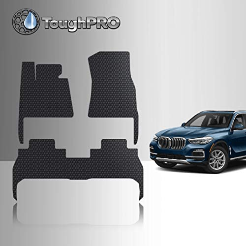 TOUGHPRO Floor Mat Accessories Set Compatible with BMW X5 - All Weather - Heavy Duty - (Made in USA) - Black Rubber - 2019, 2020, 2021 (Front Row + 2nd Row)
