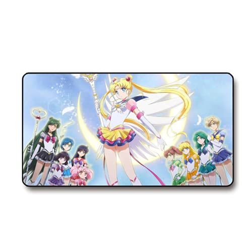 Sailor Moon Gaming Mouse Pad 15.8x29.5 in Multipurpose Comfortable Waterproof Mousepad Desk Mat for Gamer Office Home