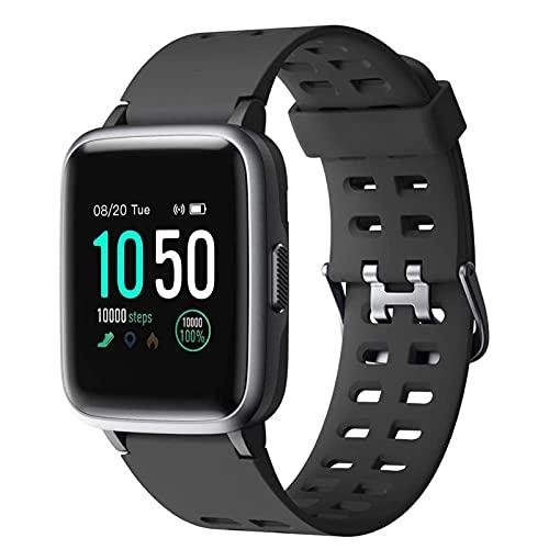 Reloj de Pantalla táctil Completa, Reloj Deportivo Impermeable IP68, cronómetro de Monitor de Ritmo cardíaco, para Mujeres y Hombres, Relojes Inteligentes, adecuados para teléfonos Android iOS