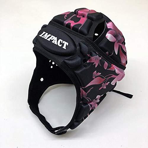 IMPACT (インパクト) ラグビーヘッドキャップ フローラル ブラック (M)