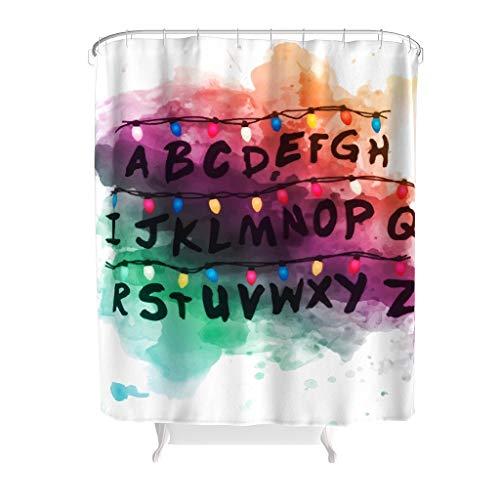 Bobonc douchegordijn, strandmotief, waterafstotend, anti-schimmel, 100% polyester