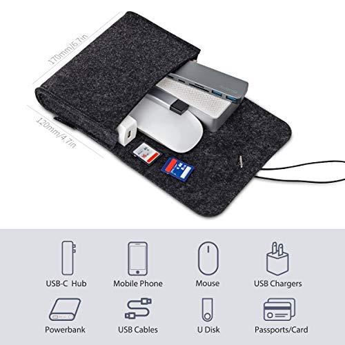 Ultrabook Laptop Tasche für 13″ MacBook Pro/Retina/MacBook Air , iPad Pro 12.9 Tasche Dunkel Grau - 4
