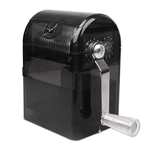 Outtybrave Hand-Tabakzerkleinerer, Handrauch, Kräutermühle, manuelle Tabakmühle 44*77MM Schwarz