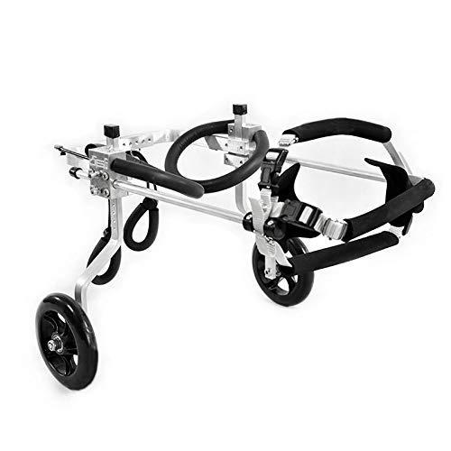 Anciano, gato, mascota, patinete, silla de ruedas, patas traseras, carrito eléctrico, 2 ruedas, ajustable, carrito de rehabilitación de animales discapacitados para perros grandes, medianos y pequeños