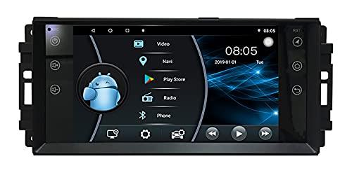 AEBDF 7 Pulgadas Android 10 Radio de Coche estéreo Multimedia Sistema de navegación GPS para Chrysler/Dodge/Jeep Universal Sat Nav Soporte Canbus,4 Core WiFi 2+32 (Ultra Thin)