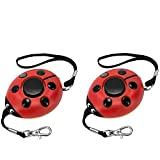 Safe Sound Personal Alarm, 130DB Personal Security Alarm Keychain with LED Lights, Emergency Safety Alarm for Women, Men, Children, Elderly(2 Pack)