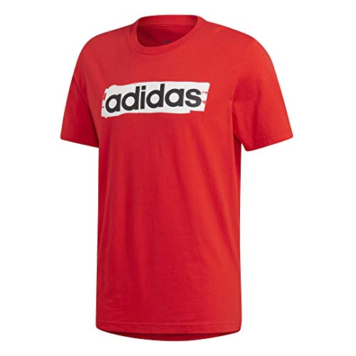 adidas Men's Linear Brush Tee Active Red XX-Large