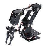 SM SunniMix Kit de Brazo Mecánico Robot DIY 6-DOF Campo Enseñanza Colegios Juntas Mecanismo de Dirección Duradero