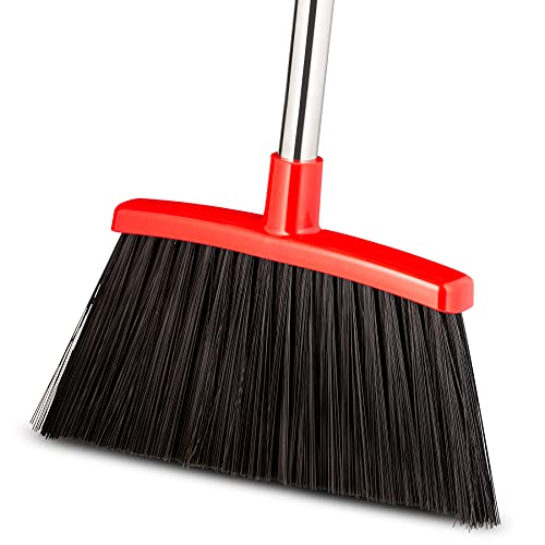 Broom Strongest 80% Heavier Duty - Outdoor Broom Indoor Broom, Angle Broom with Extendable Broomstick for Easy Sweeping - Easy Assembly & Durable, Great Use for Home Kitchen Room Office Lobby Floor