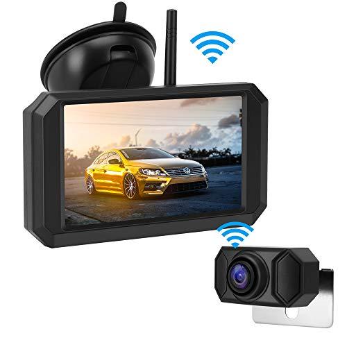 Jansite HD720P Digital-Rückfahrkamera-Kit, 5'' TFT-LCD-Monitor mit stabilem Signal, wasserdichte Super-Nachtsicht-Rückfahrkamera für Transporter, Schienen, Autos und Wohnmobile Einfache Installation