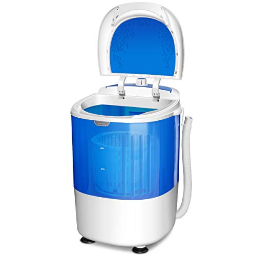 GYMAX Mini Washing Machine, Single Tub Portable Washer with...