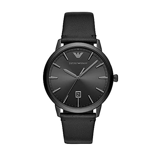 Emporio Armani Men's Analog Quartz Uhr mit Leather Armband AR11278