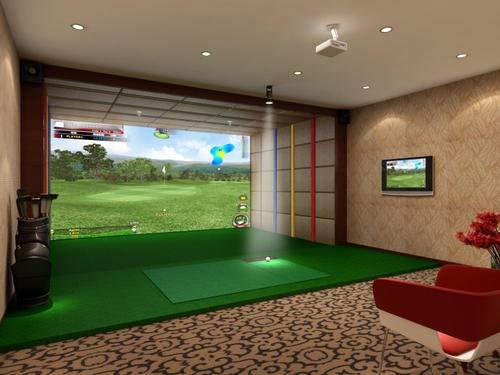 "Golf Simulators for Home Indoor 120"" x120"" Golf Simulator Impact Screen Golf Training Aid Golf Simulator Screen Impact Golf Simulator Golf Screen Golf Aid Screen Golf at Home Golf Simulator Golf"