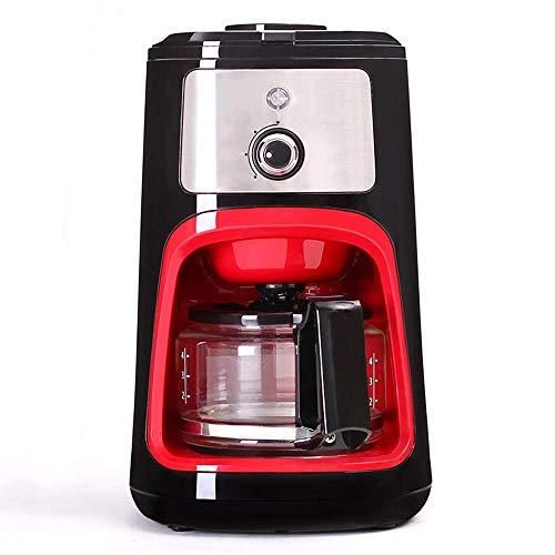 Totalmente automática grano a la taza Máquina de café, capuchino, café espresso Cafetera, 600 ml Filtro Cafetera Con molinillo de café y vidrio jarra Grinder WTZ012