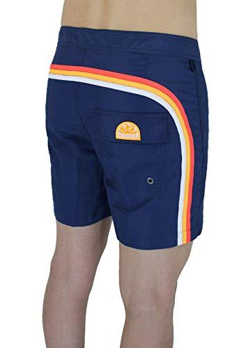 SUNDEK Costume Uomo BS/RB Contour Waist 16' Blu Navy Pantalone Corto Shorts Mare (27, Blu Navy #19)