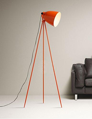 WINZSC Nordic Design orange Stativ Dreirad Arbeit Büro Stehlampe Schlafzimmer Wohnzimmer Schreibtisch Lampe Studie einfach FG749 LO9