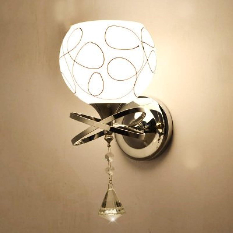 StiefelU LED Wandleuchte nach oben und unten Wandleuchten E27 LED Lampe am Bett Schlafzimmer Wohnzimmer Balkon Treppen Flure Licht light Crystal Wand leuchten, einem Kopf