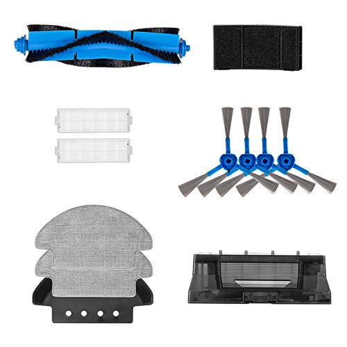Tocmoc Water Tank Kit Compatible T3 Robot Vacuum Cleaner, Robotic Vacuum Cleaner Filters, Side Brushes, Rolling Brushes, HEPA Filter, Filter Sponge, Mop&Mop Carriage, Water Tank