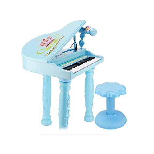 Digitale piano Beginners slag Children's Piano multifunctionele keyboard spelen Toys 3-6 Years Old Learning Puzzle (Kleur: Roze) (Color : Blue)