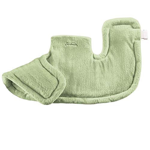 Sunbeam Renue Tension Relieving Heat Therapy, Heating Pad, Spa Green