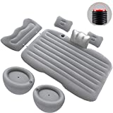 LUCKUP Car Air Mattress Inflatable Car Sleeping Pad Collapsible and with Two Pillows,Backrest