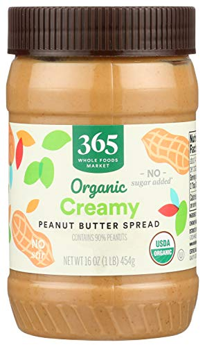 365 Everyday Value, Organic Creamy Peanut Butter, Unsweetened, 16 oz
