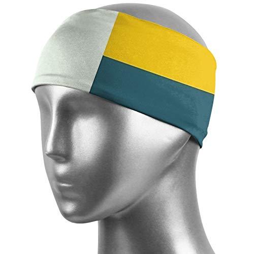Stirnbänder für Herren und Damen, Bauhaus Alter Herren Schweißband & Sport-Stirnband, Feuchtigkeitstransport, Workout-Schweißbänder für Laufen, Training, Yoga und Fahrradhelm-freundlich