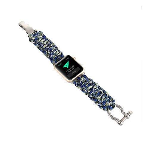 Correa de nailon para reloj Apple Watch de 42 mm, 38 mm, 4 mm, 40 mm, supervivencia al aire libre, correa de reloj con silbato para iwatch 5/4/3/2/1 (color: 8, tamaño: 42 mm o 44 mm)