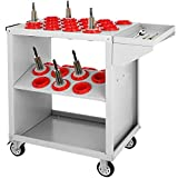 Mophorn BT50 CNC Tool Cart White Color CNC Tool Cart Trolley 32 Capacity CNC Tool Holder Cart with Coating Protection (BT50 32 Capacity)