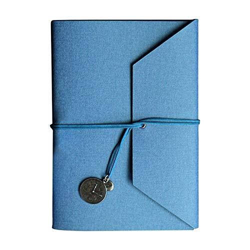Cuaderno A5 con triple pliegue de viaje, de piel sintética, bloc de notas, multiusos, práctico archivador de recetas de 8 colores