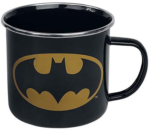 Logoshirt - DC Comics - Batman Logo - Emaillebecher - Lizenziertes Original Design, 6860526000, Mehrfarbig, Standard