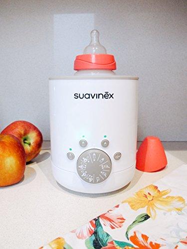 Suavinex - Calienta Biberones Link 3en1 (Leche Materna, Fórmula y Potitos). Calienta/Descongela Alimentos