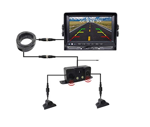Amazing Deal L-Top Reversing Radar and Monitor Display, Truck, School Bus, RV Safety Reversing Radar...