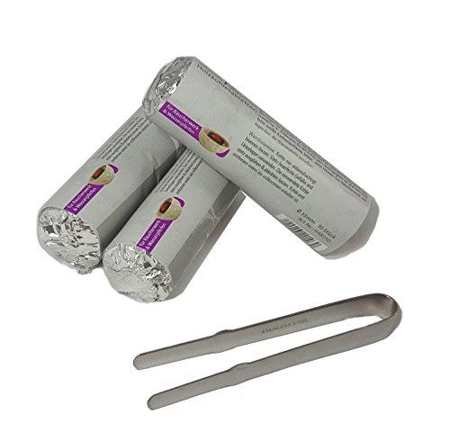 Accessori per incenso:pinza per incenso incl. carboncini autocombustibili di prima qualità a combustione rapida, Ø 33 mm