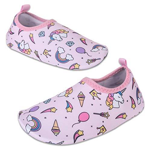 Vivay Toddler Kids Water Shoes Quick Drying Swim Beach Shoes Aqua Socks for Boys & Girls