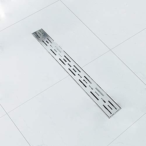 Duschrinne 70cm Edelstahl Duschablaufrinne mit Siphon Komplettset mit Geruchsstop Bodenablauf Duschablauf 50 bis 100cm