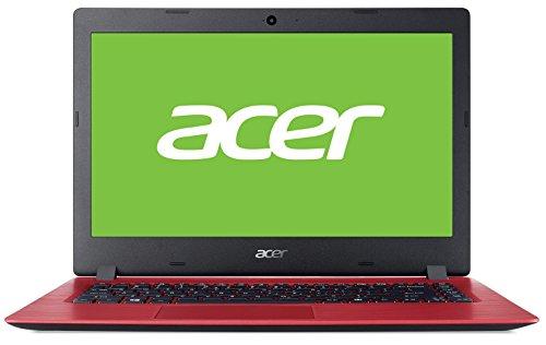 """Acer Aspire 1 A114-31 - Ordenador Portátil de 14"""" HD con Procesador Intel Celeron N3350, RAM de 4 GB, eMMC de 64 GB, Intel HD Graphics 500, Sin Sistema Operativo, Color Rojo - Teclado Qwerty Español"""