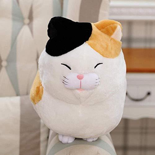 LINQ 30/40 cm Ese Anime Cat Peluche Toys Relleno S Muñecas Dibujos Animados Push EEN Cat Dolls Niños Regalo de cumpleaños-40cm_Black Qianmianyuan