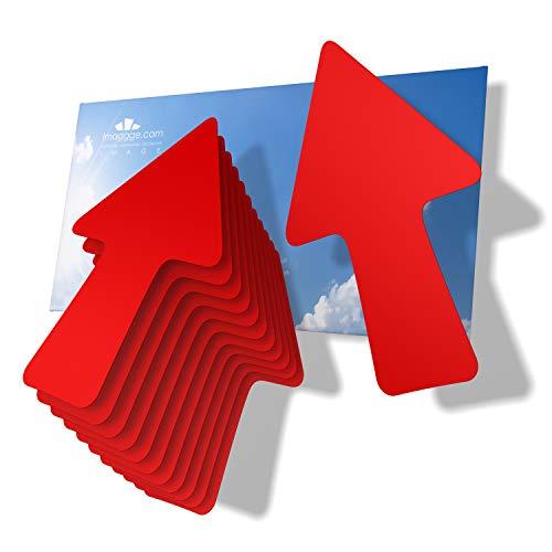 imaggge.com 12 flechas - Pegatinas de señalización y orientación para interior y exterior, direcciones, recorridos con flechas y indicaciones