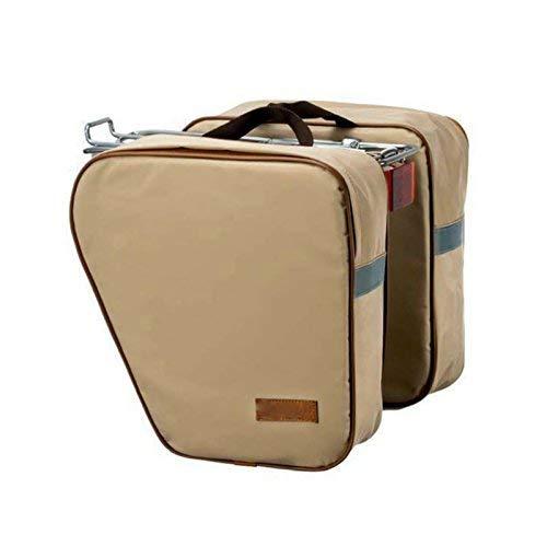 Doppeltasche für Fahrrad, Farbe: Creme, Retro-Stil, Vintage, wasserdicht, 3872CR