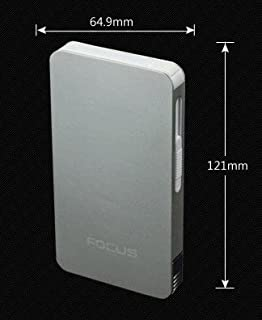 ULTRA THIN FOCUS 6 pack Automatic Loading Cigarette Case Dispenser With Built in Torch Lighter (SILVER COLOR)- FOR KING SIZE CIGARETTES (GD-1331-10 , FREE CAR sticky pad for Phone PDA MP3 MP4)