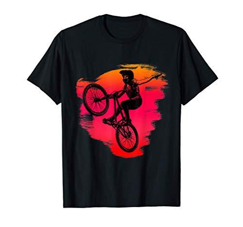 Downhill & Bmx Bike Frau Geschenkidee für Rad & Halfpipe Fan T-Shirt