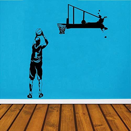Tianpengyuanshuai basketbal spel sport vinyl sticker bal schieten muursticker kleuterschool kinderkamer klaslokaal decoratie-ideeën
